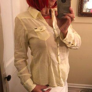 Buffalo yellow blouse shirt L